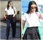 Kourtney Kardashian   IRO Trousers  leaving a studio in Los Angeles