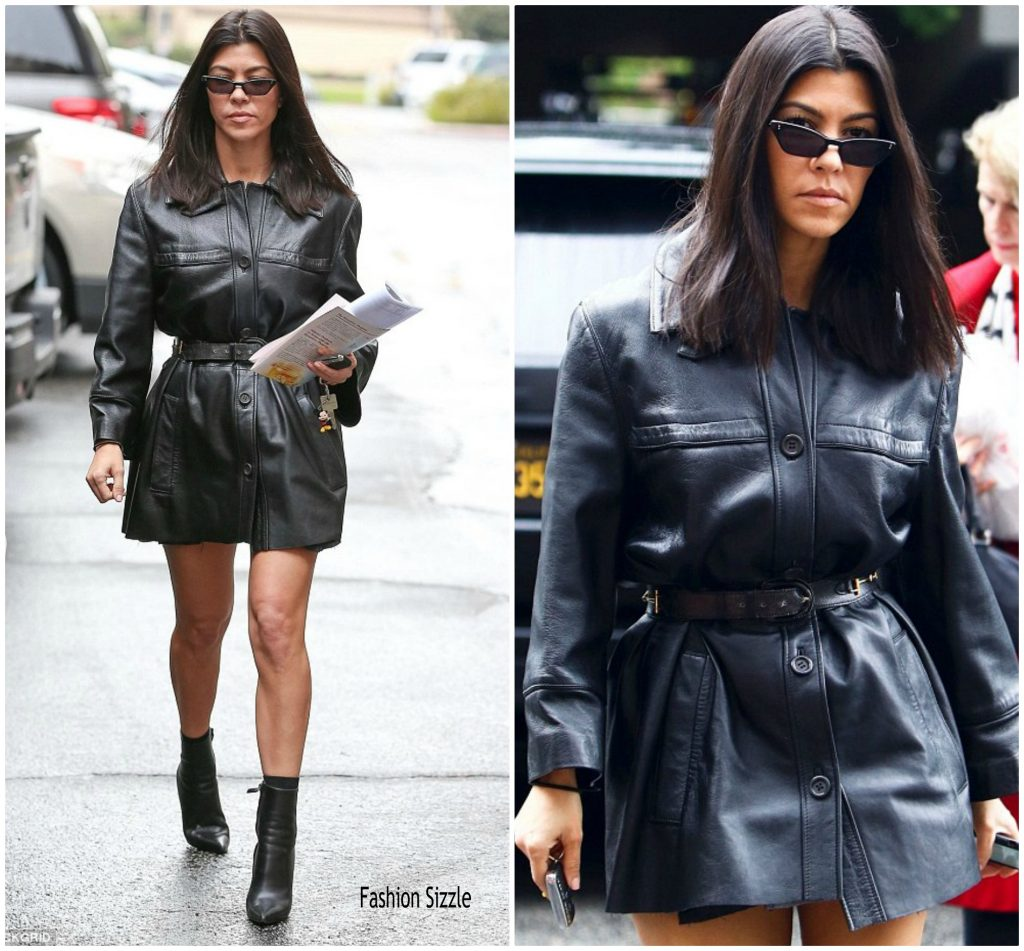Kourtney Kardashian In Sami Miro Vintage Out In Calabasas Fashionsizzle