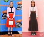 Kristen Bell In Emilia Wickstead  @ Nickelodeon's 2018 Kids' Choice Awards