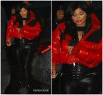 Kylie Jenner  In  Unravel Jacket @   Tristan Thompson's Birthday Party In LA
