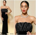 Laura Harrier In Brock Collection  @ Bvlgari Cocktail Party