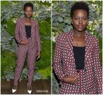 Lupita Nyong'o In Giorgio Armani @   Janelle Monae  & Belvedere Vodka kick-off 'A Beautiful Future' Campaign with Fem the Future Brunch