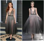 Madeline Brewer  In Georges Chakra  @ 2018 Vanity Fair Oscar Party