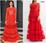 Marisa Tomei  In Valentino  @ 2018 Vanity Fair Oscar Party