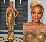 Mary J. Blige  In Vera Wang  @ 2018 Vanity Fair Oscar Party