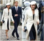 Meghan Markle In  Amanda Wakeley @ Commonwealth Day Service at Westminster Abbey