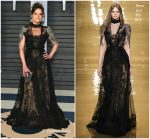 Michelle Rodriguez  In Reem Acra  @  2018 Vanity Fair Oscar Party