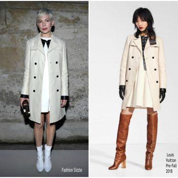 Anna Kendrick Louis Vuitton White Coat