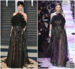 Paz Vega  In Elie Saab @ 2018 Vanity Fair Oscar Party