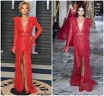 Rita Ora  In Zuhair Murad @ 2018 Vanity Fair Oscar Party