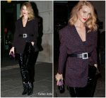Rosie Huntington-Whiteley In  Magda Butrym & Zeynep Arcay  Leaving Her Hotel in New York