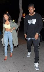 Karrueche Tran And  Victor  Cruz  Arriving at hotspot Delilah in West Hollywood