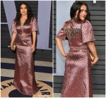 "Salma Hayek  In Dapper Dan ""Gucci"" @  2018 Vanity Fair Oscar Party"