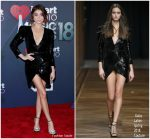 Sarah Hyland In Galia Lahav Couture  @ 2018 iHeartRadio Music Awards