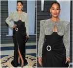 Tracee Ellis Ross  In Balmain  44 Françios Premier  @ 2018 Vanity Fair Oscar Party