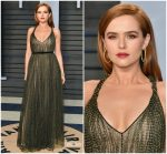 Zoey Deutch  In Christian Dior  @2018 Vanity Fair Oscar Party