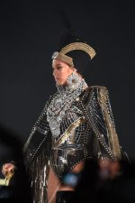 Beyoncé's Wears  Custom   Balmain Egyptian Inspired Cape  & Headpiece  @ Coachella
