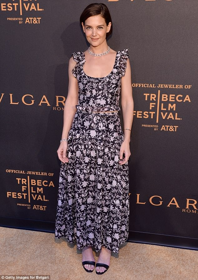 Katie Holmes In Ulla Johnson Bvlgari World Premiere