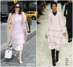 Abigail Spencer  In Chloe & Tom Ford   @ Today Show  In New York