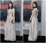Alexandra Daddario In Zac Posen @ 'Rampage' LA Premiere