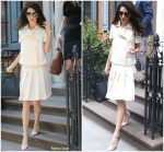 Amal Clooney  In Chanel Out In New York