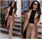 Amal Clooney In Diane Von Furstenberg   @ Out In New York