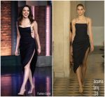 Aubrey Plaza In Jacquemus  @ Late Night with Seth Meyers