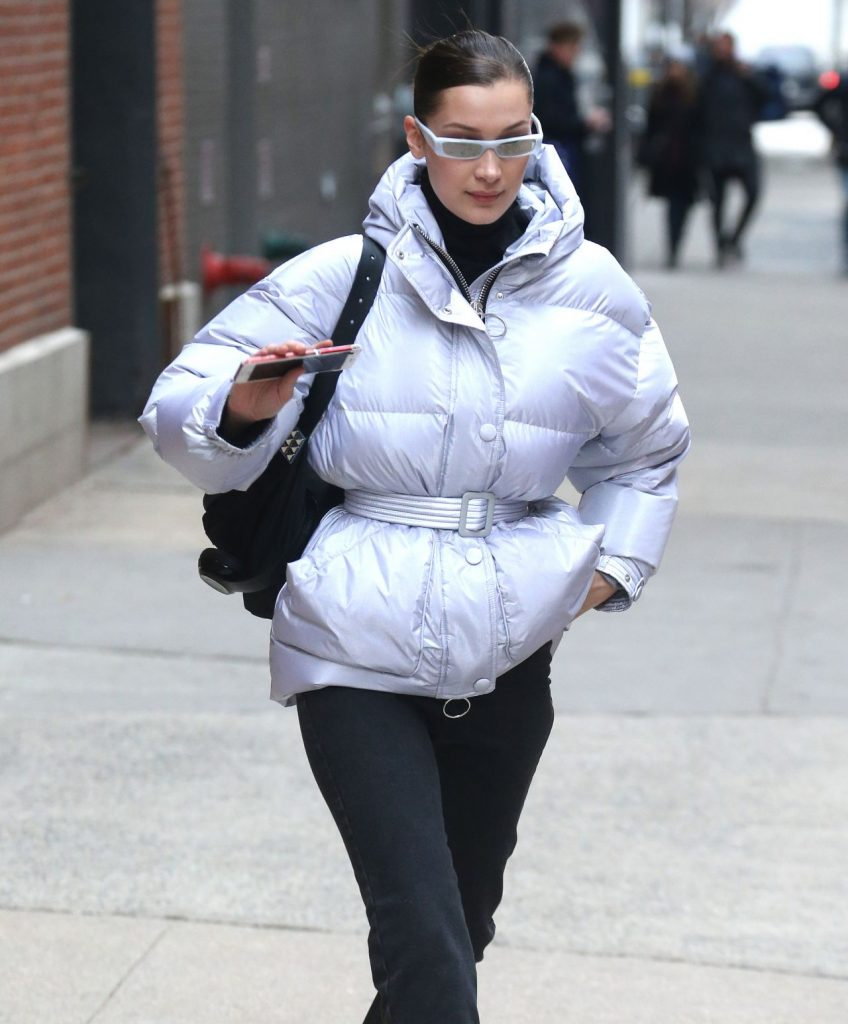 Bella Hadid In Ienki Ienki Leaving Milk Studio In New York