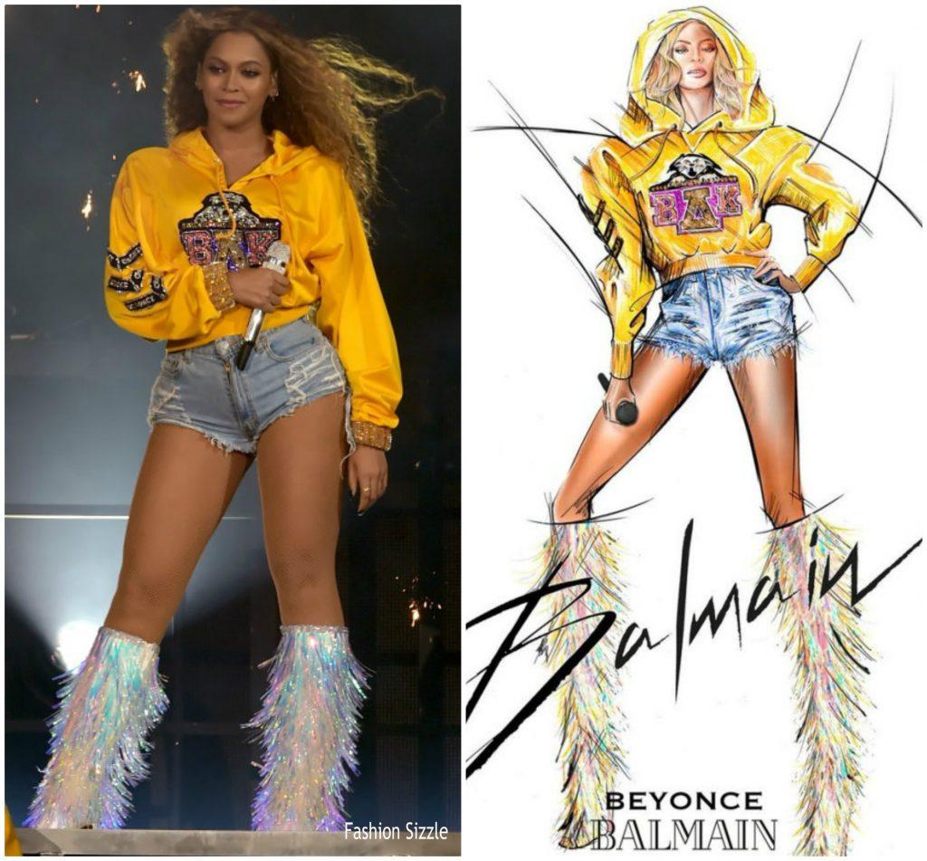 Beyonce Knowles In Custom Balmain Coachella Fashionsizzle