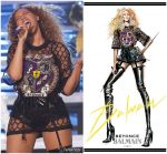 Beyonce Knowles In Custom Balmain @ Coachella