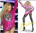 Beyonce Knowles Wears  Custom Balmain @ Her Second Coachella Performance