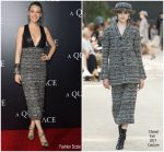 Blake Lively In Chanel Couture  @ 'A Quiet Place' New York Premiere