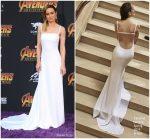 Brie Larson In Carolina Herrera  @ 'Avengers: Infinity War' LA Premiere