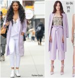 Camila Alves In Alice + Olivia, L'Agence & J Brand  @ Out In New York