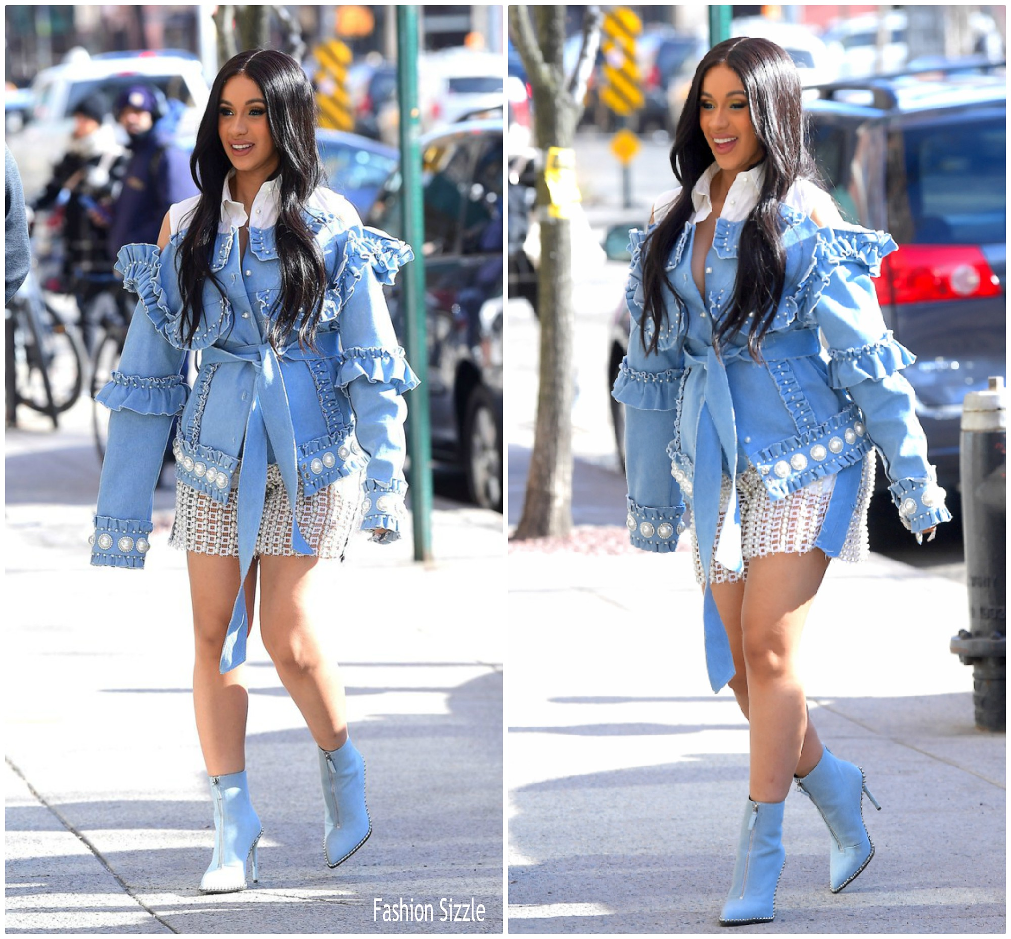 Cardi B In The Laurence Chico Out In New York Fashionsizzle