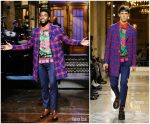 Chadwick Boseman In Versace  @ Saturday Night Live