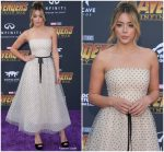 Chloe Bennet In Monique Lhuillier  @ 'Avengers: Infinity War' LA Premiere