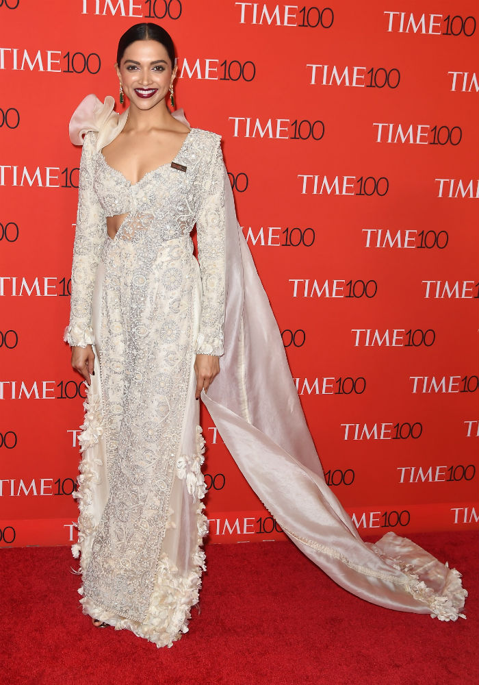 Deepika Padukone In Anamika Khanna @ 2018 Time 100 Gala ...