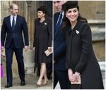 Duchess of Cambridge  In Catherine Walker @ Easter Service 2018  At Windsor Castle