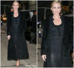Emily Blunt In Altuzarra  @ The Late Show With Stephen Colbert