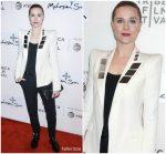 Evan Rachel Wood In Mugler @  'Westworld' Tribeca Film Festival Premiere