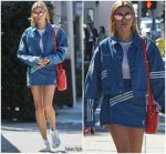 Hailey Baldwin  In Adidas Originals X Danielle Cathari  @ Zinque Cafe in West Hollywood