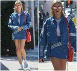 Hailey Baldwin  In Adidas Originals X Danielle Cathari  @ Zinque Cafe in West Hollywood