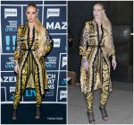 Iggy Azalea  In Versace @ Watch What Happens Live