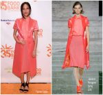 Kelsey Asbille In Salvatore Ferragamo  @ Food Bank For New York City's Can Do Awards Dinner