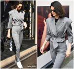 Kendall  Jenner  In Carmen March   leaving George V Hotel in Paris