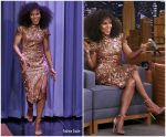 Kerry Washington In Erdem @ Tonight Show Starring Jimmy Fallon