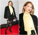 Lea Seydoux In Louis Vuitton  @ 'Isle of Dogs – L'Ile Aux Chiens' Paris Premiere