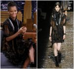 Letitia Wright In Coach  @ The Tonight Show Starring Jimmy Fallon