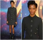 Letitia Wright In Louis Vuitton @ Marvel Studios' 'Avengers: Infinity War' UK Fan Event
